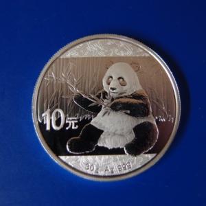中国 パンダ銀貨 10元 2017年 30g|goldtohki
