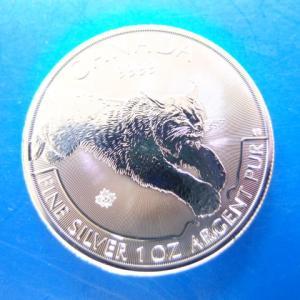 カナダ  カナダオオヤマネコ銀貨 1オンス 2017年|goldtohki
