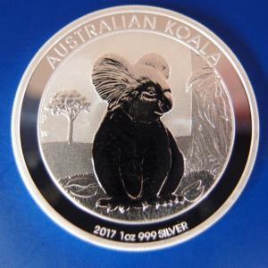 オーストラリア コアラ銀貨1オンス 2017年|goldtohki