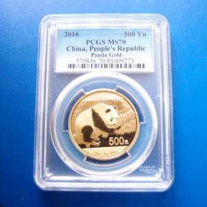中国 パンダ金貨 30g 500元 2016年 MS70|goldtohki