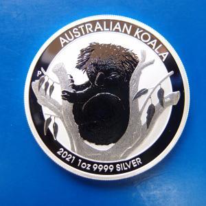 コアラ銀貨1オンス 2021年 新品未使用 純銀 銀貨 1オンス オーストラリアパース造幣局