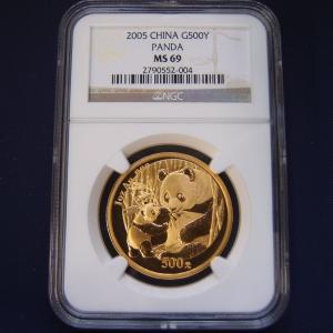 中国 パンダ金貨1オンス 2005年|goldtohki