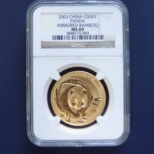 中国 パンダ金貨1オンス 2003年|goldtohki