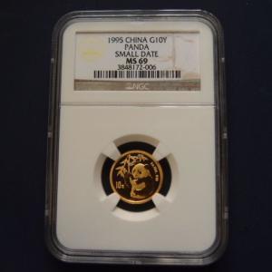 中国 パンダ金貨1/10オンス 1995年|goldtohki