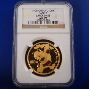 中国 パンダ金貨 1オンス  1996年 MS69 LD|goldtohki