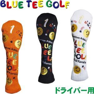BLUE TEE GOLF ブルーティーゴルフ スマイル ニットヘッドカバー ドライバー用  golf-atlas