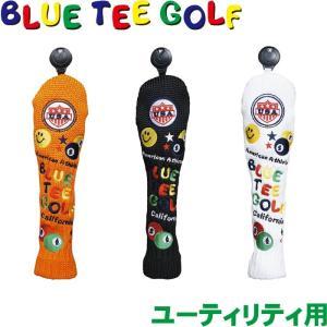 BLUE TEE GOLF ブルーティーゴルフ スマイル&ピンボール ニットヘッドカバー ユーティリティ用 |golf-atlas