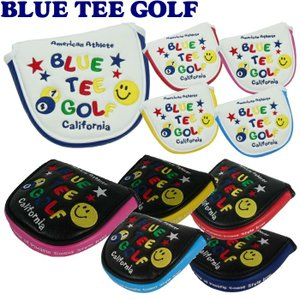 BLUE TEE GOLF ブルーティーゴルフ スマイル&ピンボール パターカバー マレットタイプ用|golf-atlas