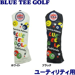 BLUE TEE GOLF ブルーティーゴルフ スマイル&ピンボール ヘッドカバー ユーティリティ用