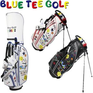 BLUE TEE GOLF ブルーティーゴルフ スマイル&カート スタンド キャディバック 9型 BTG-CB008   |golf-atlas