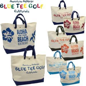 ブルーティーゴルフ アロハ オン ザ ビーチ 大型トートバッグ BTG-TT003 【BLUE TEE GOLF  ALOHA ON THE BEACH】 |golf-atlas