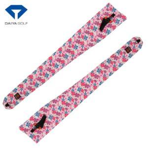 DAIYA ダイヤ CC-028 クラブケース  ピンク/花柄 巾着型 |golf-atlas