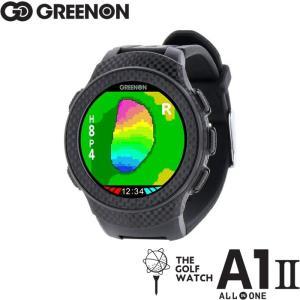 Green On グリーンオン ザ・ゴルフウォッチ A1-II (エーワン・ツー) THE GOLF WATCH A1 II G017 【オールインワン画面搭載/腕時計型ゴルフナビ/GPSキャディー|golf-atlas