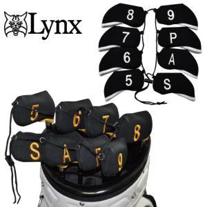 【メール便250円発送可】 Lynx  リンクス アイアンカバー  8個セット(5-9,P,A,S)  golf-atlas