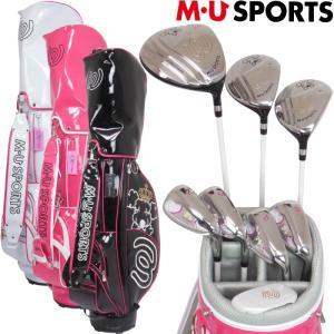 MU SPORTS MUスポーツ  703V3900  レディースゴルフ ハーフセット  クラブ8本+キャディバッグ付  golf-atlas