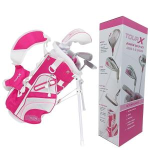 TOUR-X ピンクジュニア ゴルフセット サイズ #0 (〜5才未満用)|golf-atlas
