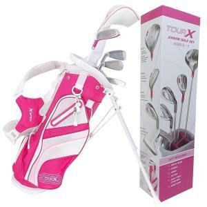 TOUR-X ピンクジュニア ゴルフセット サイズ #1 (5-7才用)|golf-atlas