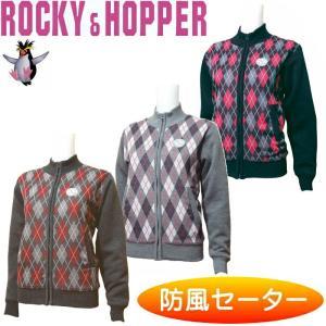 ロッキー&ホッパー RH-4343WL レディース フルZIP防風セーター アーガイル柄 |golf-atlas