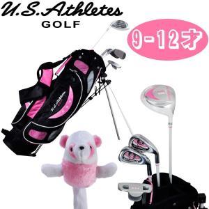 USアスリート ジュニア用ゴルフセット USCS-5755 (ピンク/ 9-12才用) |golf-atlas