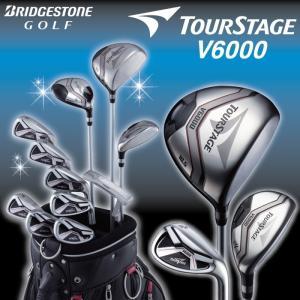 ブリヂストン ツアーステージ V6000 クラブ11本セット キャディバッグ付き メンズ|golf-club