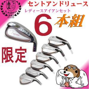 ゴルフ アイアンセット 6本組【6,7,8,9,P、S】女性用 カーボンシャフト付