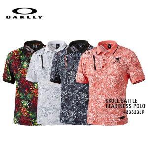 【2015年 限定特売!在庫限り!】オークリースカル バトル レディネス ポロシャツ【433323JP】  メンズ ゴルフウェア golf-season