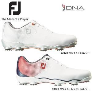 【2017年モデル】フットジョイ FOOTJOY NEW DNA Boa ゴルフシューズ 【53330】 ホワイト+シルバー Wウィズ:M(1E)・XW(3E)|golf-season