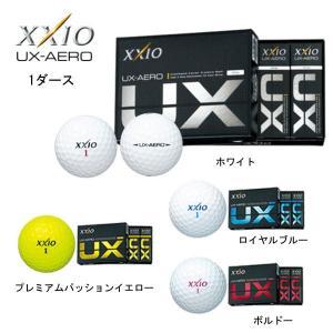 【2016年モデル】 ダンロップ XXIO UX-AERO ゼクシオ ユーエックスエアロ ゴルフボール1ダース (12個入り)