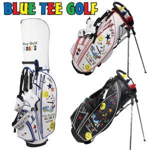 ブルーティーゴルフ 9型 スマイル&カート スタンドバッグ BTG-CB-008 Blue Tee Golf California スタンド式 キャディバッグ|golf-thirdwave