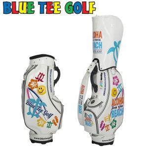 ブルーティーゴルフ 9型 キャディバッグ ALOHA ON THE BEACH アロハオンザビーチ ソフトエナメル CB009 Blue Tee Golf California ゴルフ用バッグ|golf-thirdwave