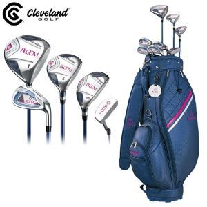 クリーブランド レディース ゴルフセット 8本 キャディバッグ付 BLOOM PACKAGE SET  Cleveland ブルーム パッケージセット ハーフセット クラブセット|golf-thirdwave