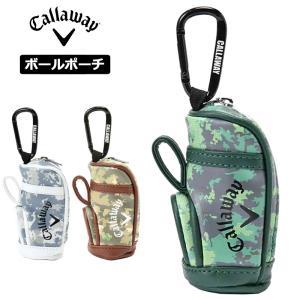 キャロウェイ ボールポーチ カモフラ キャディバッグ型 241-0298502 20FW Callaway ゴルフ用品 ボールケース 小物入れ|golf-thirdwave