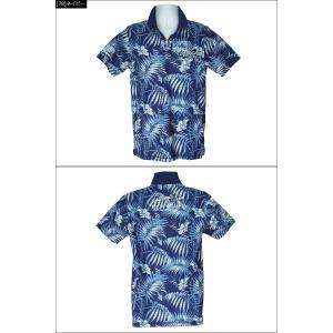 メール便可250円 ガッチャゴルフ メンズ 半袖 ポロシャツ リーフ柄 182GG1215 GOTCHA GOLF 春夏 18SS ゴルフ メンズウェア|golf-thirdwave|04