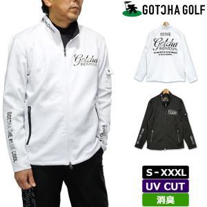 ガッチャゴルフ メンズ ストレッチ フルジップ  ジャケット エンボスロゴ 211GG1301 GOTCHA GOLF 春 秋  21SS ゴルフウェア ブルゾン トップス アウター FEB2 golf-thirdwave