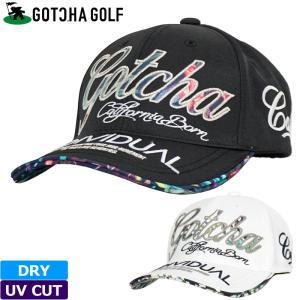 ガッチャゴルフ 2021 吸水速乾 UVカット キャップ 212GG8712 COOL MAX リーフパターン GOTCHA GOLF  21SS ゴルフウェア 帽子 JUN2|golf-thirdwave