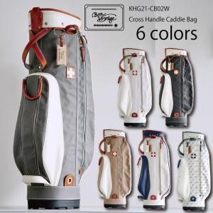 木の庄帆布 2021 クロス ハンドル キャディバッグ 9型-9.5型 CROSS HANDLE Caddie Bag LIMITED EDITION KHG21-CB02W 21SS ゴルフ用バッグ カートバッグ|golf-thirdwave