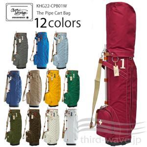 【即納在庫あり】木の庄帆布 2021 パイプ フレーム キャディバッグ 9型-9.5型 The Pipe Cart Bag KHG22-CPB01W 21FW ゴルフバッグ ゴルフ用バッグ カートバッグ|golf-thirdwave
