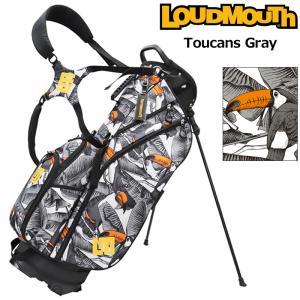 日本規格 ラウドマウス 2021 8.5型 軽量 スタンドバッグ トゥーカンズグレー LM-CB0010 771984(296)  21FW Loudmouth キャディバッグ 派手 ゴルフ用品 SEP2|golf-thirdwave