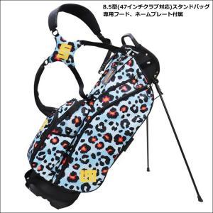 日本規格 ラウドマウス 2021 8.5型 軽量 スタンドバッグ ネオンチーターブルー LM-CB0010 771984(302)  21FW ゴルフ Loudmouth キャディバッグ 派手 用品 SEP2|golf-thirdwave