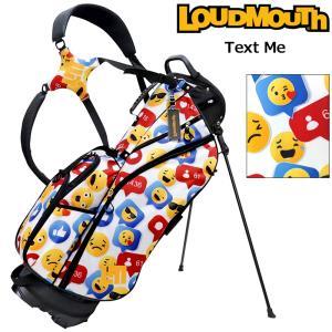日本規格 ラウドマウス 2021 8.5型 軽量 スタンドバッグ テキスト ミー LM-CB0010 771984(304)  21FW ゴルフ Loudmouth キャディバッグ 派手 ゴルフ用品 SEP2|golf-thirdwave