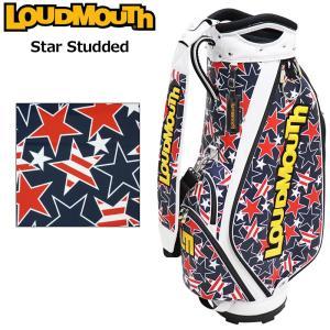 日本規格 ラウドマウス 2021 9.5型 キャディバッグ スタースタッズ ネイビー LM-CB0014/761998(078)  21SS Loudmouth Bag ゴルフ用バッグ 派手な|golf-thirdwave