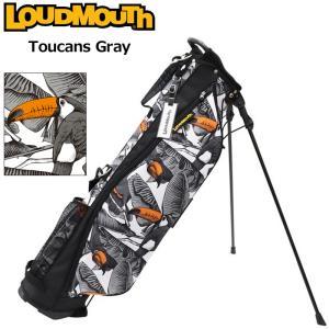 日本規格 ラウドマウス 2021 6.5型 超軽量 スタンドバッグ LM-CB0017 771983(296) トゥーカンズグレー  21FW Loudmouth キャディバッグ 派手 ゴルフ用品 SEP3|golf-thirdwave