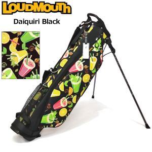 日本規格 ラウドマウス 2021 6.5型 超軽量 スタンドバッグ LM-CB0017 771983(303) ダイキリ ブラック  21FW Loudmouth キャディバッグ 派手 ゴルフ用品 SEP3|golf-thirdwave
