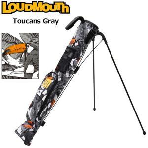 日本規格 ラウドマウス 2021 セルフスタンドキャリーバッグ トゥーカンズグレー LM-CC0004/771982(296)  21FW Loudmouth Self Stand Bag 派手 な 柄 SEP3|golf-thirdwave