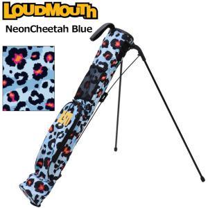 日本規格 ラウドマウス 2021 セルフスタンドキャリーバッグ ネオンチーターブルー LM-CC0004/771982(302)  21FW Loudmouth Self Stand Bag 派手 な 柄 SEP3|golf-thirdwave