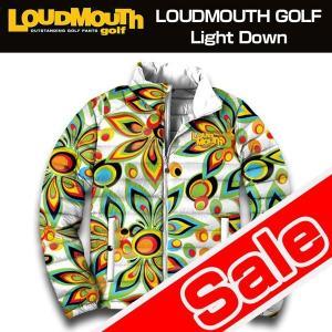 ラウドマウス Loudmouth ゴルフ メンズウエア ライトダウン ジャケット (男女共用) Shagadelic White シャガデリック ホワイト 新品 メンズ レディース ブルゾン|golf-thirdwave
