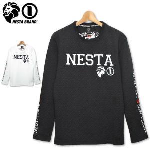 NESTA BRAND メンズ 長袖 Tシャツ クル−ネック Uネック 193NB1108 ブリスターJQ ネスタブランド ロンT 19FW %off|golf-thirdwave