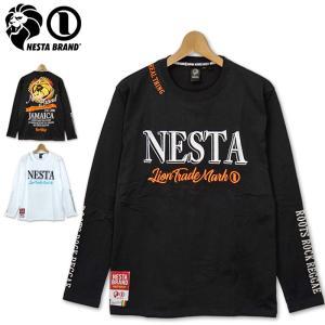 NESTA BRAND メンズ 長袖 Tシャツ バックスクエアロゴ 201NB1102 ネスタブランド ロンT 20SS|golf-thirdwave