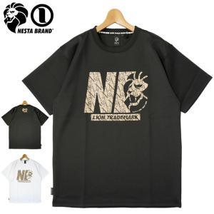 ネスタブランド 2021 吸汗速乾 クルーネック 半袖 Tシャツ モノグラムロゴ 212NB1015 NESTA BRAND メール便発送  21SS トップス ファッション JUN1|golf-thirdwave