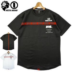 ネスタブランド 2021 吸汗速乾 クルーネック 半袖 Tシャツ ロゴテープ 212NB1017 NESTA BRAND メール便発送  21SS トップス ファッション JUN1|golf-thirdwave